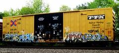 space - spek - utah - venus (timetomakethepasta) Tags: train graffiti utah venus space 63 yme etc boxcar freight mul itd tbox ttx spek reser