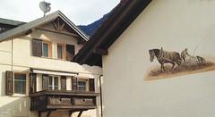 Tamins (micky the pixel) Tags: building schweiz switzerland mural suisse bauer architektur pferd gebude bauernhaus graubnden grischuna pflug tamins