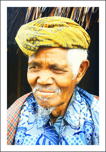 Elder from Wae Rebo village