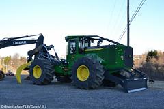 John Deere 848L Log Skidder (Trucks, Buses, & Trains by granitefan713) Tags: logging deere johndeere skidder newequipment logskidder loggingmachine forestryequipment 848l johndeere848l