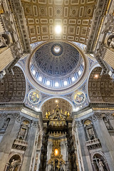 Papal Altar and Cupola (Fairy_Nuff (new website - piczology.com!)) Tags: italy vatican rome roma saint st san basilica main altar cupola dome peters pietro papal