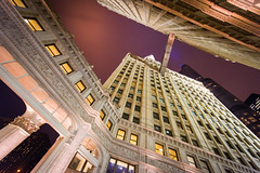 Wrigley Building, Chicago (ramsey ksar photography) Tags: chicago building tower architecture night downtown wrigley trump