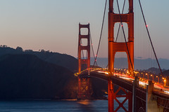 Golden Gate Bridge at Sunset (mikey baker) Tags: california bridge sunset usa bay goldengatebridge artdeco