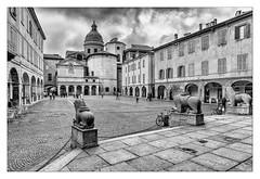 I LEONI (zozoros) Tags: bw italy square italia leoni bn piazza reggioemilia sanprospero