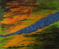 lumire bleue (Leelooart) Tags: art arts association color artiste terrebonne artlove artlover artsvisuels oeuvresdarts artsworks aaavt maryeldupuis