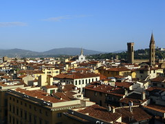 View from Giottos Campanile (of Florence Cathedral / Il Duomo di Firenze) (chibeba) Tags: city vacation urban italy holiday tower heritage history architecture florence spring europe view cathedral aerialview panoramic unesco worldheritagesite april oldcity birdseye 2016 citybreak
