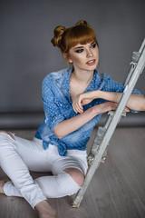 Kate (anastasiiarusakova) Tags: new portrait people woman color cute art girl beautiful beauty smile face female studio happy photo model eyes nikon funny colorful russia joy style popular emotions colorimage