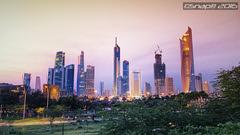 Cityscape just after sunset (Snap) Tags: sunset landscape evening scenery cityscape kuwait kuwaitcity q8 q8city