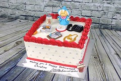 Retirement cake (marias_cakes18) Tags: cake toppers retirement retirementcake mariascakes
