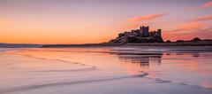 Beguiling Bamburgh Beach (macdad1948) Tags: castle beach sunrise coast northumberland bamburgh