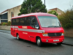 Essbee, Coatbridge SE55ZHH (busmanscotland) Tags: mercedes mod ministry mercedesbenz cheetah defence vario coatbridge plaxton o814 se55 zhh essbee se55zhh
