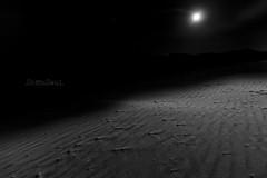 One Light (shotandsoul) Tags: africa bw moon night canon shot desert luna tokina duna marruecos moroco erg soul7 shotandsoul