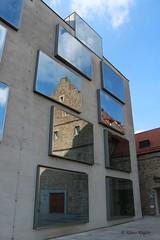 Schweinfurt (Klaus R. aus O.) Tags: city sky cloud reflection brick window wall concrete bayern bavaria hotel inch fenster wand himmel wolke franconia franken spiegelung beton schweinfurt zoll ziegel unterfranken statd