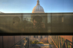 St Paul's Self-Portrait (Tom Shearsmith Photography) Tags: selfportrait reflection london westminster st architecture photoshop vintage shopping photography exposure arch cathedral centre pauls tone hdr refelct tonemap