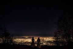 Two Brides, Stars, Big Bear California (JphotoArt.com) Tags: california bear wedding jason night stars big long time brides perryman exporsure