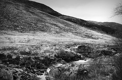 IMG_5052 (abi.rayner) Tags: uk blackandwhite nature monochrome river landscape photography scotland photo highlands stream isle arran tonal