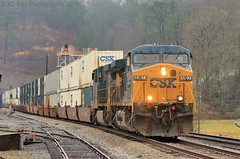 CSX Q026-10 at Tunnel Hill, GA (KD Rail Photography) Tags: georgia trains container transportation ge smalltown railroads winterweather generalelectric csx smalltownusa tunnelhill intermodal ac4400cw westernatlantic intermodaltransportation cw44ah howtomorrowmoves qualityinmotion