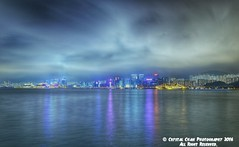 City Night Reflection (crystalchan777) Tags: city longexposure light shadow sea sky seascape water architecture clouds landscape hongkong cityscape lighttrails   cloudscape waterscape nikonphotography cityscapephotography naturebynikon