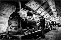 Kirby Stephen East Station . (wayman2011) Tags: uk people bw trains cumbria locomotive canon5d railways dales pennines stations lightroom steamengines phographers wayman2011