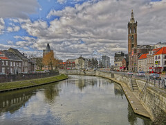 roermond rur Christoffelkathedraal IMG_4464 (seyjo) Tags: church buildings river places location historic maas hdr roermond urbanscape historiccity rur dutchcity steenenbrug seyjo
