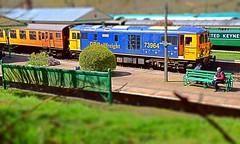 Tilt-Shift-ED (pnb511) Tags: station train ed diesel platform railway loco locomotive gala bluebell tiltshift class73 gbrf horstedkeynes 73964