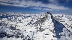 El Matterhorn (fred.vaudroz) Tags: sky mountain snow alps switzerland swiss aerial valais cervin