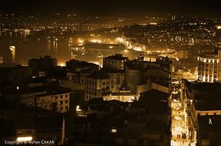 Night Golden Horn Istanbul