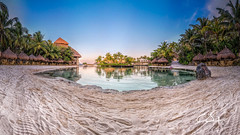 Xcaret (Gallitosoto2) Tags: sunset sky panorama sun sol beach sunrise landscape mexico playadelcarmen paisaje palm cancun xcaret drama palmera hdr stich autopano nodalpoint 360180 ninjanodal fujifilmx100t