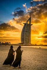 Burqa meets Cappuccino (gags9999) Tags: ladies sunset beach coffee dubai burjalarab cappuccino burqa