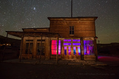 Light Painting in Bodie, October 2015 (Jeffrey Sullivan) Tags: california park county copyright usa lightpainting building abandoned night rural canon photography mono town photo october colorful unitedstates state decay ghost historic workshop bodie bridgeport 2015 bodiestatehistoricpark jeffsullivan