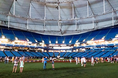 Center Field Shuffle - Tropicana Field (BlueVoter - thanks for 1.3M views) Tags: stpetersburg baseball tampabay tropicana beisbol