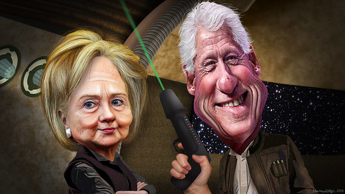 Bill & Hillary Clinton - The future awakens for these two dysfunctional power trippers and their ever-going mess of 'hillbilly-ized' antics and scandals.