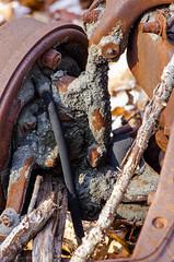 Rusted car frame (alohadave) Tags: unitedstates massachusetts places northamerica bluehills smcpda55300mmf458ed pentaxk5
