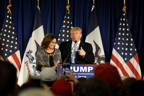 Trump and Palin at Iowa State University - 1/19/2016