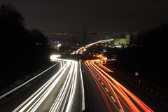 Car lightpainting (christianbaier88) Tags: canon eos wiesbaden autobahn autos asphalt brcke efs lichter langzeitbelichtung 1585 stadtauswrts lichtzieher