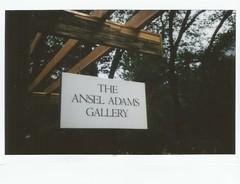 Ansel Adams (kristen cynthia) Tags: nature nationalpark gallery yosemite anseladams instantphotography fujifilminstax