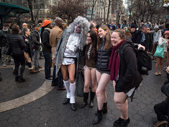 Pantless Sunday 20. (rockerlan) Tags: new york nyc people urban subway square downtown manhattan no union sunday olympus pantless pant lifestyles em5