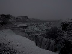 Gullfoss waterfall on a foggy morning (802701) Tags: snow waterfall iceland gullfoss gullfosswaterfall