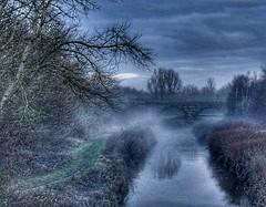 Morning Mist (Keo6) Tags: old morning bridge mist water brook dallam