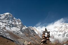 Chorten (Pooja Pant) Tags: nepal mountains beautiful trek abc annapurna annapurnabasecamp macchapuchre