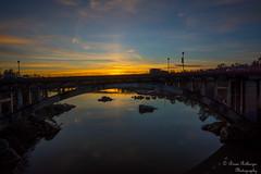 Sunset at Rainbow Bridge (bcr160) Tags: bridge sunset reflection rainbow nikon folsom sigma 1020 d7100 kl0 bcr160