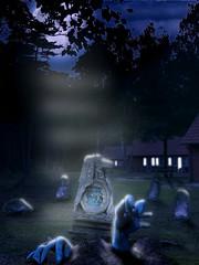Friedhof / Graveyard (DanielHiller) Tags: friedhof moon house building grave graveyard forest germany deutschland mond scary nikon hand darkness zombie ghost gimp haus return grab geist tot wald gebude dunkelheit niedersachsen rckkehr schneverdingen