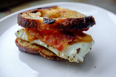 Homemade Bacon, Egg and Cheese sandwich (Premshree Pillai) Tags: nyc newyorkcity winter food ny newyork home cheese breakfast brooklyn bread bacon apartment egg sandwich homemade homecooked sourdough sammich winter2015