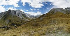 20160209-30-Rees-Dart day 2 - Heading Peak and Mt Tewa pano (Roger T Wong) Tags: travel newzealand panorama mountains trek outdoors nationalpark walk pano hike nz southisland np bushwalk tramp mtaspiringnationalpark 2016 ptgui sony2470 reespass rogertwong sel2470z sonyfe2470mmf4zaosscarlzeissvariotessart sonya7ii sonyilce7m2 sonyalpha7ii