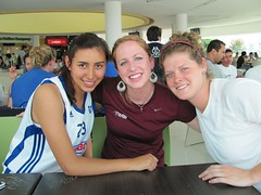 Mexico 2010 post game Jess and Katie (AIA Basketball) Tags: mexico women 2010