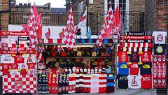 Red & White (McTumshie) Tags: street england london sport shop scarf football unitedkingdom flag arsenal supporters afc londonist arsenalfootballclub thegunners 30january2016london