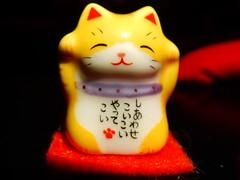 Minature Maneki Neko (kewpiedollchan) Tags: macro japan cat japanese nikon feline good luck coolpix neko pussycat maneki hiragana s9900