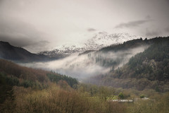 Snowdonia (Tony Shertila) Tags: sky snow mountains weather wales europe day britain outdoor scenic valley snowdonia