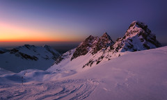 Absorbing the last light.. (George Pancescu) Tags: winter light sunset sky mountain snow cold nature landscape golden nikon scenery europe view natural outdoor peak valley hour romania goldenhour winterscape fagaras 1635mm massiv d810 outstandingromanianphotographers valeadoamnei