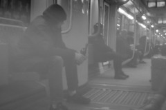 Taken with my self-made pinhole lens. Mitte, Berlin. (Ronkoteus) Tags: berlin beer train canon drinking pinhole sbahn 6d pinholelens canon6d selfmadelens